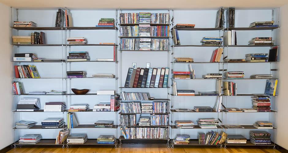 libreria sospesa, si adatta ad ogni spazio. BRC Design
