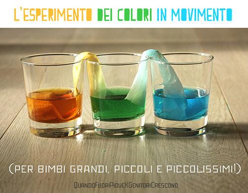 Conosciuto L'esperimento dei colori in movimento | genitoricrescono.com DO52