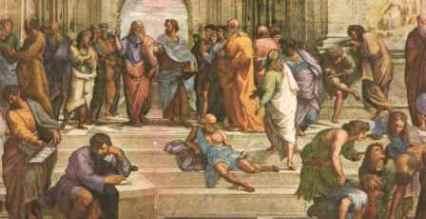 particolare dalla Scuola di Atene di Raffaello