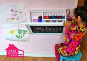 Ana White flip Flop Art Desk. Con istruzioni fai da te. http://ana-white.com/2011/09/flip-down-wall-art-desk-0