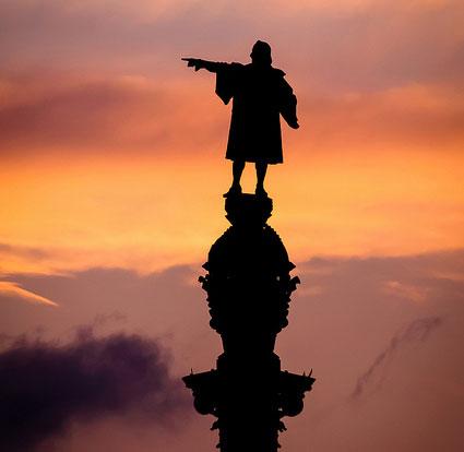 Statua di C. Colombo a Barcellona - Foto di Umberto De Peppo Cocco utilizzata con licenza CC