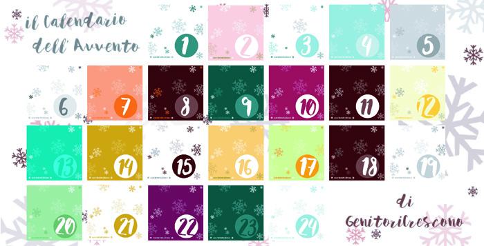 La grafica del calendario dell'avvento di genitoricrescono è realizzata da Giada di quandofuoripiove. Bello vero?
