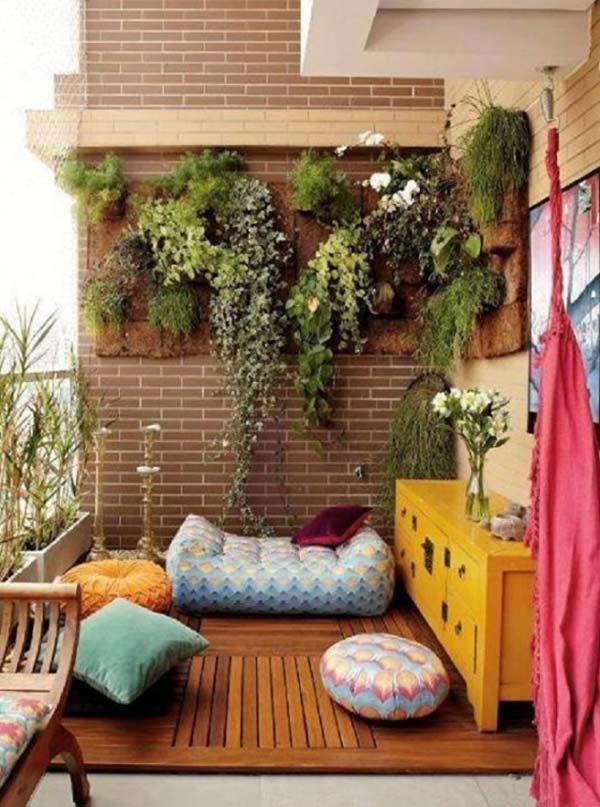small balcony garden idea