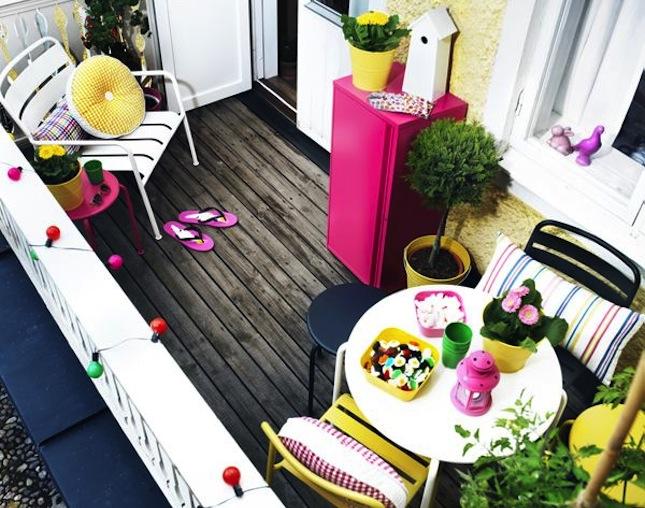 Arredare un balcone pensando anche ai bambini for Arredo terrazzo ikea