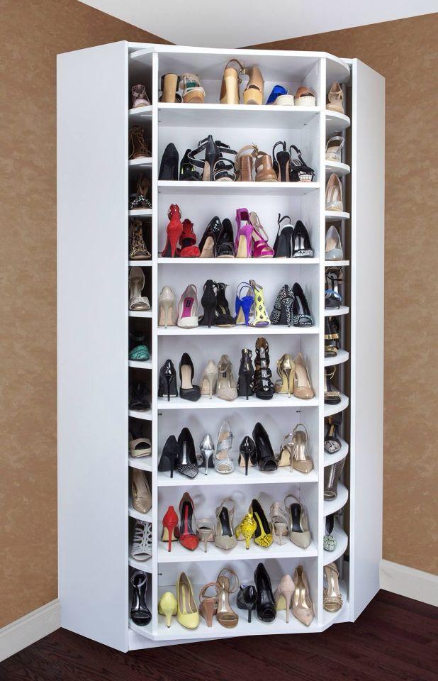 Troppe scarpe? L'armadio che gira può essere la soluzione