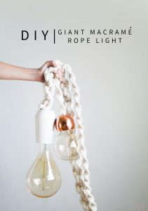 DIY giant macrame light tutorial